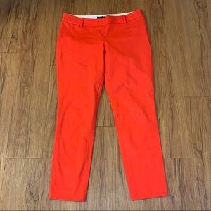 Aritzia Babaton Red Straight Leg Trouser Pants
